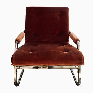 Butaca reclinable vintage, años 60