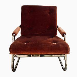Poltrona vintage reclinabile, anni '60
