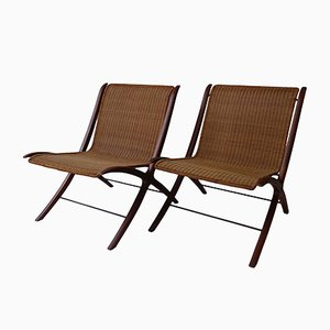 X Lounge Chairs by Hvidt & Mølgaard for Fritz Hansen, 1950s, Set of 2