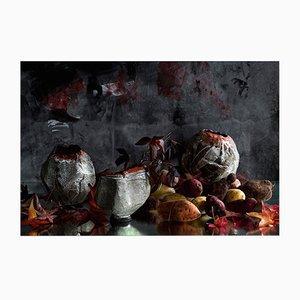 Orange Stripy Keramik von AnnaLeaClelia Tunesi, 2018, 3er Set