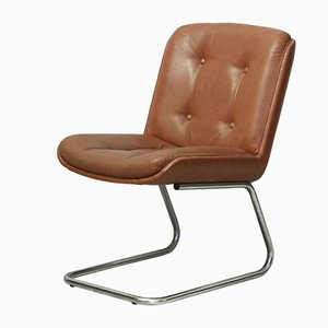 Vintage Leatherette Desk Chair, 1970s