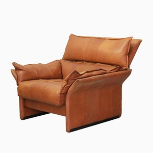 Vintage Leather Armchair from Luigi Sormani, 1980s