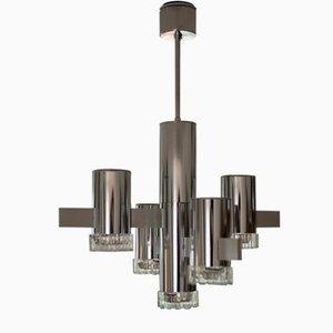 Lámpara de araña de Gaetano Sciolari para Sciolari, años 70