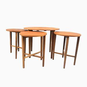 Vintage Danish Nesting Tables, Set of 4
