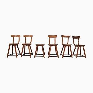 Bauhaus Holzstühle von Charles & Ray Eames, 1930er, 6er Set