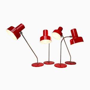 Deutsche Tischlampen von Tom Robertson, 1970er, 4er Set