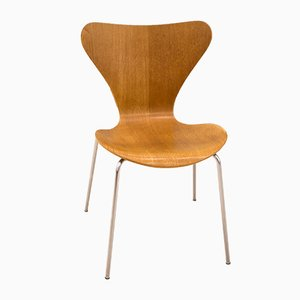 Chaise Série 7 en Chêne par Arne Jacobsen pour Fritz Hansen, 1970s