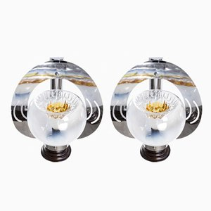 Murano Glass Wall Lamps from Mazzega, 1960s, Set of 2