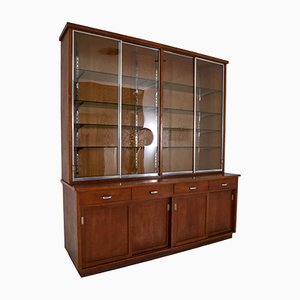 Plywood and Oak Display Cabinet from Ernst Rockhausen Söhne, 1920s