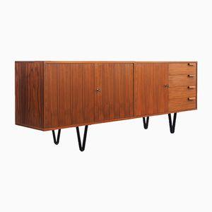 Sideboard aus Nussholz mit neuen Schlaufenfüßen, 1960er