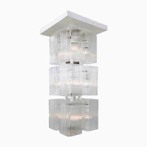 Deckenlampe aus weißem Metall & Glas von Tom Robertson, 1970er