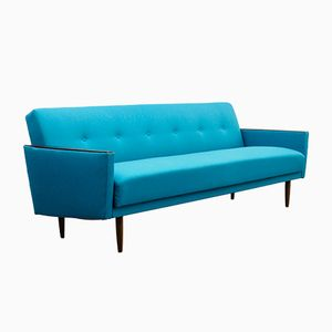 Petrol Blue Collapsible Sofa, 1960s