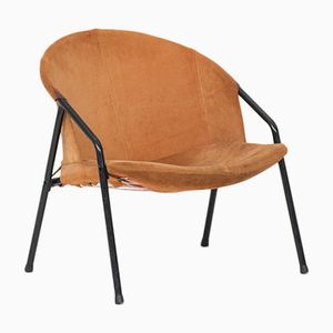 Vintage German Balloon Chair in Suede, 1970s