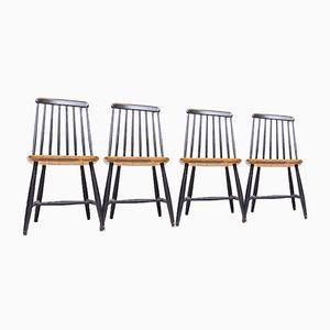 Mid-Century Swedish Dining Chairs from Nesto, 1960s, Set of 4