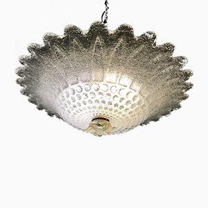 Large Mid-Century Murano Glass Ceiling Lamp, 1970s