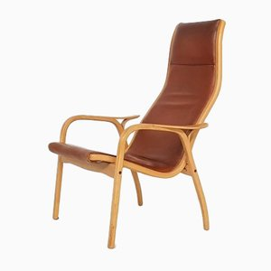 Leather Lamino Lounge Chair by Yngve Ekström for Swedese, 1950s
