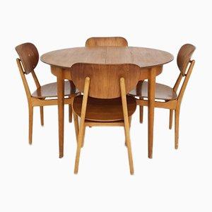 Table TB35 avec Chaises SB11 par Cees Braakman pour Pastoe, 1950s