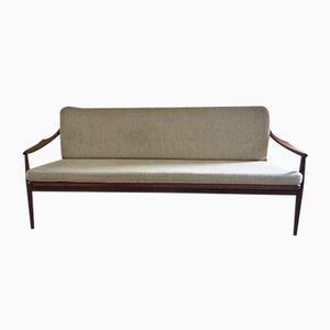 Sofa aus Teak & Schilfrohr von Ib Kofod-Larsen für Selig, 1960er