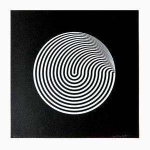 Serigrafía Dinamica Circolare de Marina Apollonio, 1966