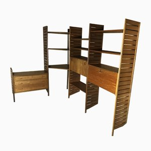 Teak Ladderax Corner Wall Unit, 1960s