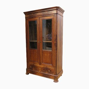 Antique French Walnut Display Cabinet