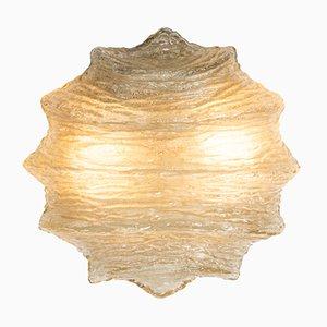 Glas Eis Deckenlampe, 1960er