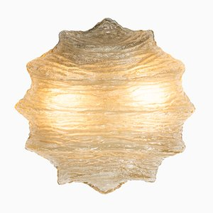 Glass Ice Ceiling Lamp, 1960s