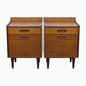 Vintage Scandinavian Nightstands, 1960s, Set of 2