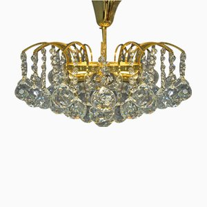 Crystal Glass Chandelier by Christoph Palme, 1980s