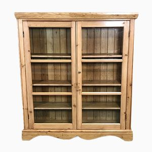 Vintage Fir Display Cabinet, 1950s