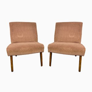 Vintage Brown Lounge Chairs from Cintique, Set of 2