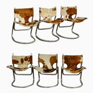 Chaises Cowhide, 1960s, Set de 6