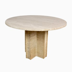 Vintage Italian Travertine Table, 1960s