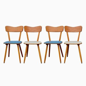 Vintage Bistro Chairs, 1950s, Set of 5