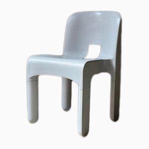 Weißer Universal Stuhl von Joe Colombo für Kartell, 1960er
