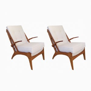 Vintage Belgian Armchairs, 1950s, Set of 2