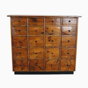 Mueble de farmacia holandesa o cajonera de pino, años 40