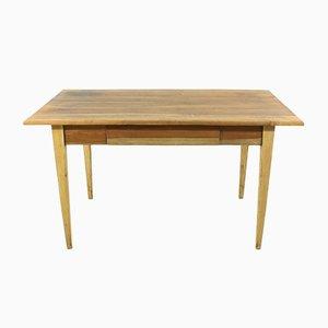 Mesa de comedor antigua de madera de cerezo o escritorio, década de 1890