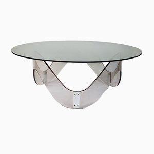 Plexiglass & Glass Coffee Table, 1970s