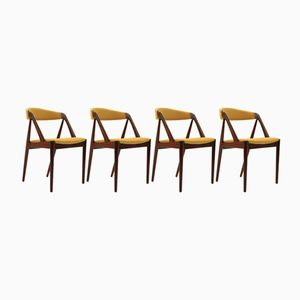 Teak Dining Chairs by Kai Kristiansen for Schou Andersen, 1960s, Set of 4