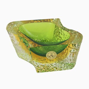 Murano Glass Bowl by Luigi Mandruzzato, 1960s