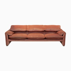 Maralunga 3-Sitzer Sofa von Vico Magistretti für Cassina, 1973