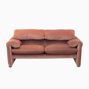 Maralunga 2-Sitzer Sofa von Vico Magistretti für Cassina, 1973