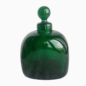 Bottiglia Art Déco in vetro di Murano con tappo di Carlo Scarpa per Venini
