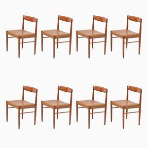 Esszimmerstühle aus Palisander von H.W. Klein für Bramin, 1960er, 8er Set