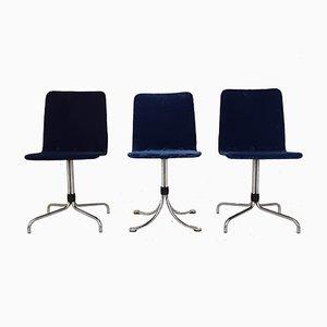Velvet Dining Chairs from Brabantia, 1960s, Set of 3