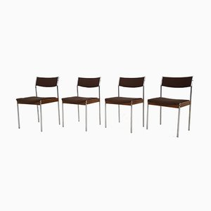 Vintage Dining Chairs from Thereca, Set of 4