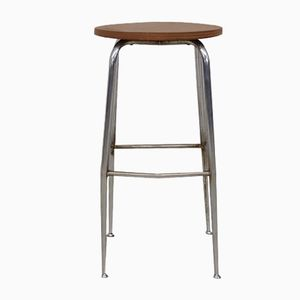 Industrial Metal Stool, 1950s