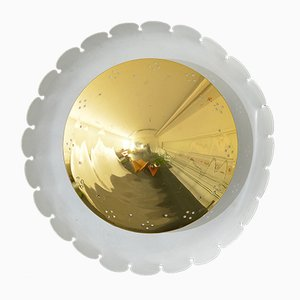 Round Wall Light from Kaiser Leuchten, 1950s
