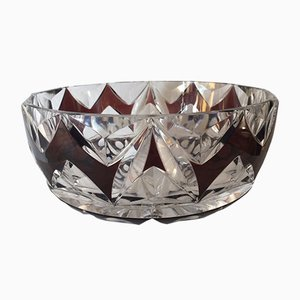 Art Deco Cut Glass Bowl from Val Saint Lambert, 1925